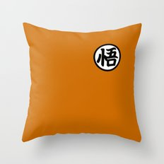 Goku symbol Throw Pillow
