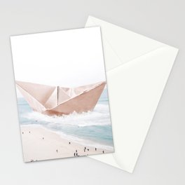 Let's sail away Stationery Cards