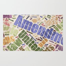 Bill of Rights Word Cloud Rug