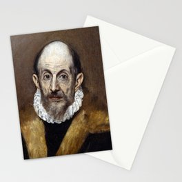 El Greco Portrait of an Old Man Stationery Cards