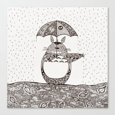 Happy Totoro Canvas Print