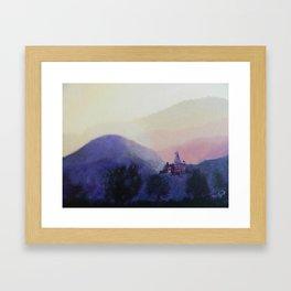 Zen Mountains Framed Art Print