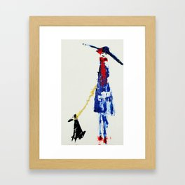 Parisian Lady Framed Art Print