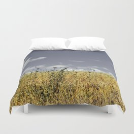 on a meadow Duvet Cover