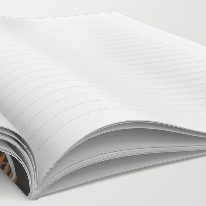 Floral grey pattern Notebook