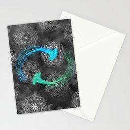 Watercolor Jellyfish Mandalas Stationery Cards