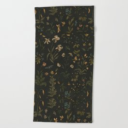 Old World Florals Beach Towel