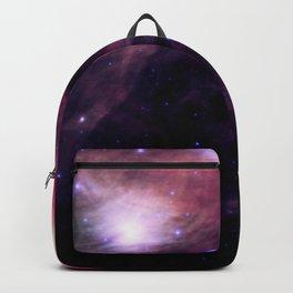 Galaxy : Pleiades Star Cluster nebUlA Purple Pink Backpack