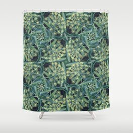 Green Herb Garden, Dill Flowers Shower Curtain