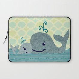 Whale Mom and Baby Laptop Sleeve
