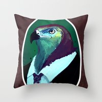 lawyer Throw Pillows featuring lawyer by Filip Radulescu
