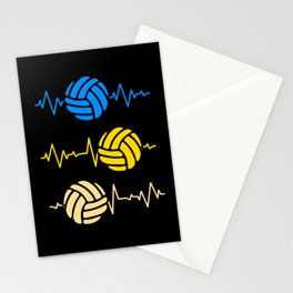 Volleyball Heartbeat Heartline Ball Sports Stationery Cards