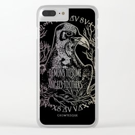 Demons and Angels Clear iPhone Case