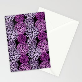 Pretty Purple Mum Floral Pattern Stationery Cards