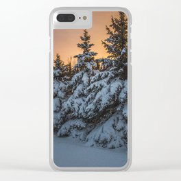 Winter Sunset 3 Clear iPhone Case