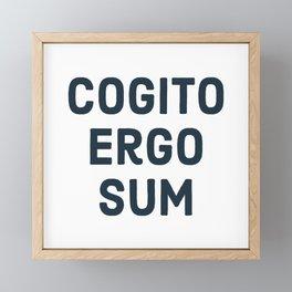 COGITO ERGO SUM René Descartes Framed Mini Art Print