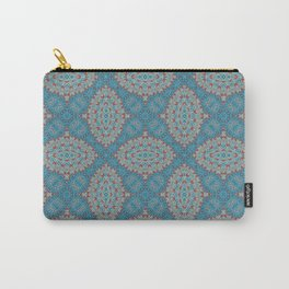 Tribal Tile Blue Carry-All Pouch