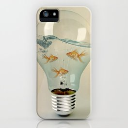 ideas and goldfish 03 iPhone Case