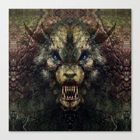 beast Canvas Prints featuring Beast by Zandonai