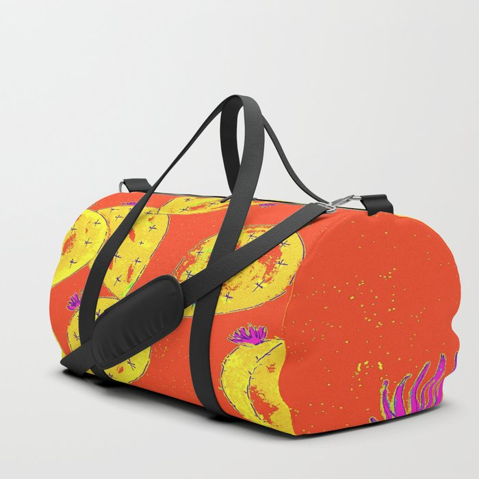 Orange cacti garden Duffle Bag