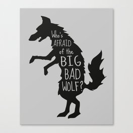 Who's Afraid of the Big Bad Wolf - Three Little Pigs Art Inspired Print Canvas Print