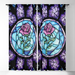 Stained Glass Cathedral Rosette Blackout Curtain