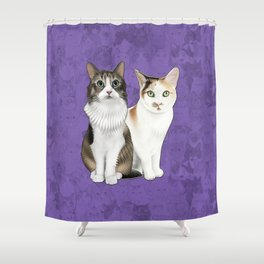 Lupin and Tonks Shower Curtain