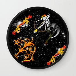 Sagittarius Astrology Sign Wall Clock