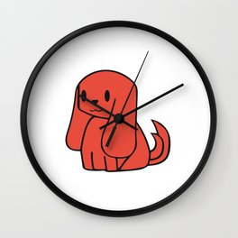 The Orange Dog Wall Clock