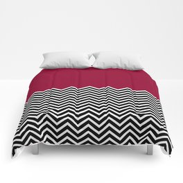 Flat Red and Classic Chevron Comforters