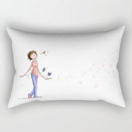 Butterflies, Hand Drawn Illustration Rectangular Pillow