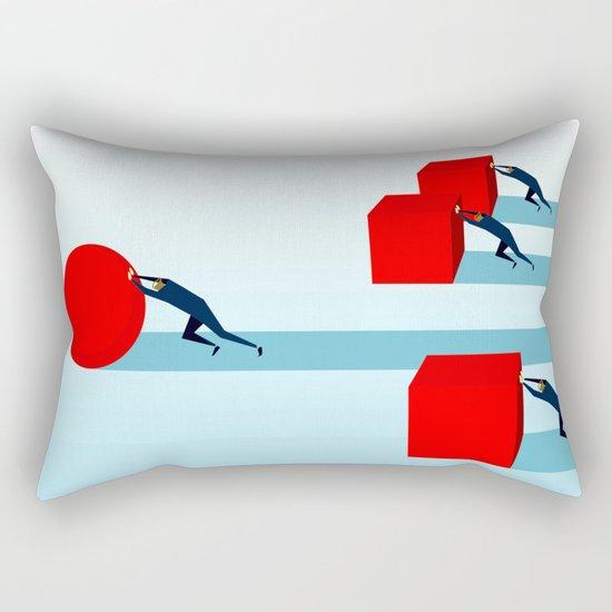 Work smarter Rectangular Pillow