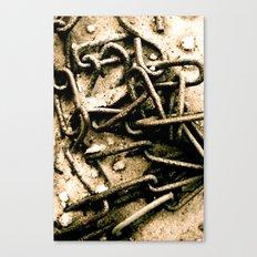 Chains in the garden sand Canvas Print