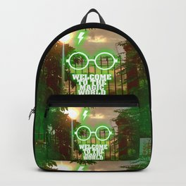 Welcome to the magic world... Inspirational Movie Art Backpack