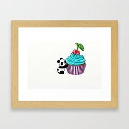 Panda Cupcake Framed Art Print