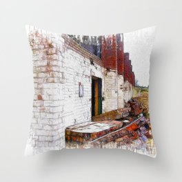 And the Walls Came Tumbling Down Throw Pillow