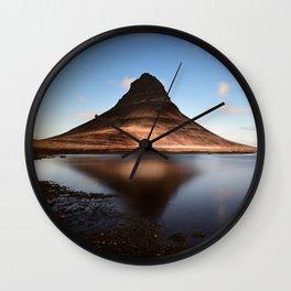 Fell Kirkjufell Mountain Wall Clock
