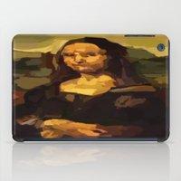mona lisa iPad Cases featuring Mona Lisa by Robert Morris