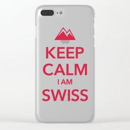 KEEP CALM I AM SWISS Clear iPhone Case