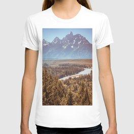 Grand Teton National Park Snake River Overlook Print T-shirt