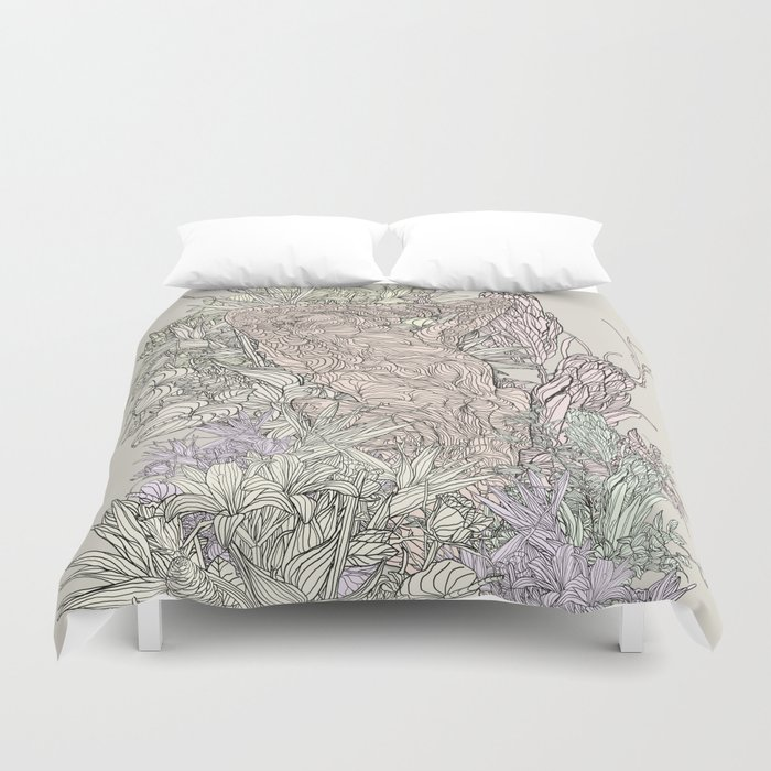 Contrast of life Duvet Cover