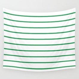 Kelly Green Breton Stripes Wall Tapestry