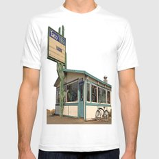 Abandoned Taco Time MEDIUM White Mens Fitted Tee