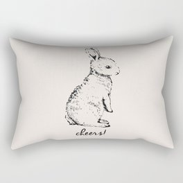 cheers little bunny Rectangular Pillow