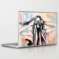 scott pilgrim Laptop & iPad Skins featuring The Pilgrim by KHCollaboration