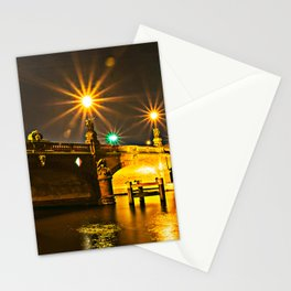 Night on the Moltke-Bridge in Berlin Stationery Cards