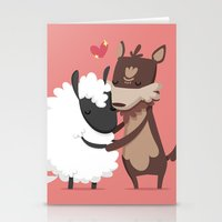 lamb Stationery Cards featuring Lamb by Alfonso Cervantes
