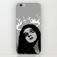 antler iPhone & iPod Skins featuring Annie Antler by Stephan Brusche