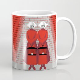 The Wall - The Red Handmaid Collection by ©2018 Balbusso Twins Coffee Mug