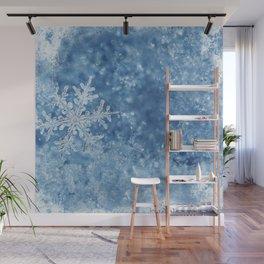 Winter wonderland Snowflakes Wall Mural
